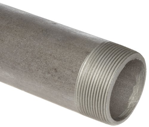 """Anvil International 325 Steel Pipe Fitting, Schedule 80, Seamless Nipple, 1/8"""" NPT Male x 3-1/2"""" Length, Extra Heavy Black Finish from Anvil International"""