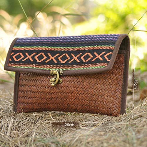perfk Main Tissu Main Femme Coton Sac en en Thaïlande Cadeau à Fait de r8rWfwqB