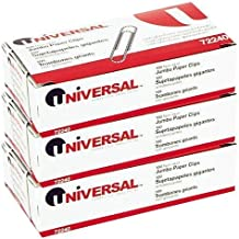 Universal Nonskid Paper Clips, Wire, Jumbo, Silver-100 ct, 3 pk