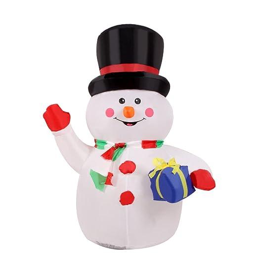 Anself - 120cm Muñeco de nieve inflable para la decoración navideña (3.9 pies)