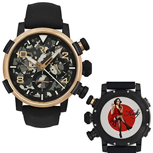 Romain-Jerome-Pinup-DNA-Red-Gold-WWII-Kelly-Red-Dress-Chrono-Auto-RJPCH00301