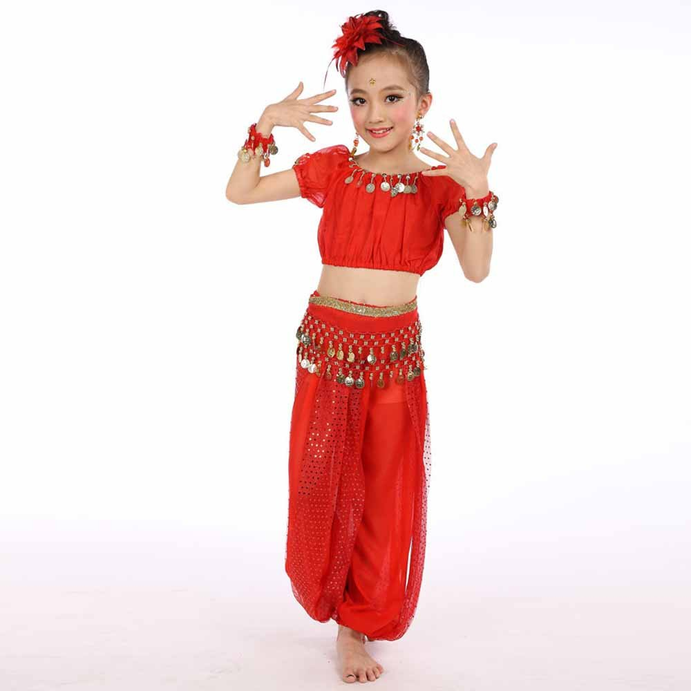 Amazon.com: Lanhui Girl Handmade Egypt Dance Cloth Children ...
