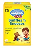 Image of Kids Cold Medicine, Hyland's 4 Kids Sniffles n' Sneezes Tablets, Decongestant, Headache and Sinus Relief, Natural Treatment for Common Cold Symptoms, 40 Count