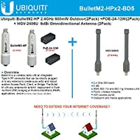 Ubiquiti BulletM2-HP BM2-HP 2pack + Antenna 2.4GHz 6dBi Omnidirectional 2pack