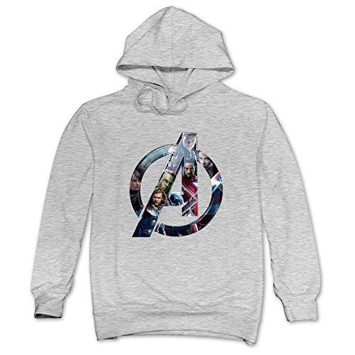 Price comparison product image JaHa Men's Marvel Comics Classic The Avengers Hoodies Sweatshirt Ash