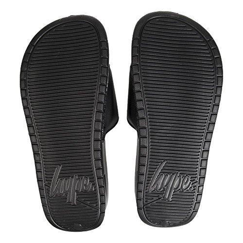HYPE Logo Sandales Mules Piscine Confort Uni (Noir)