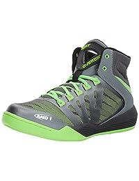 AND1 Men's Overdrive Basketball Shoe, Castlerock/Grey/Jasmine, 11 M US