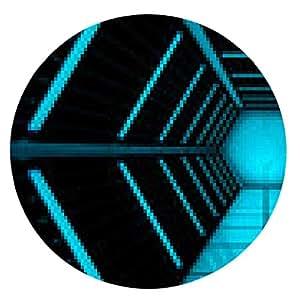 alfombrilla de ratón Túnel abstracto 3D - ronda - 20cm