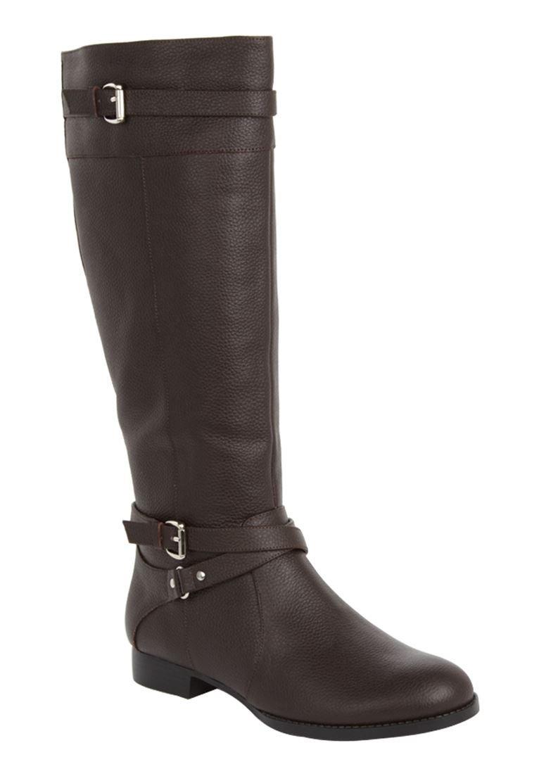 Comfortview Women's The Janis Wide Calf Boot B00DF4KNZK 8 C/D US|Dark Brown