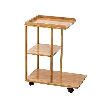 JUEJIDP Bambú en Movimiento Sala de Estar pequeña Mesa de ...