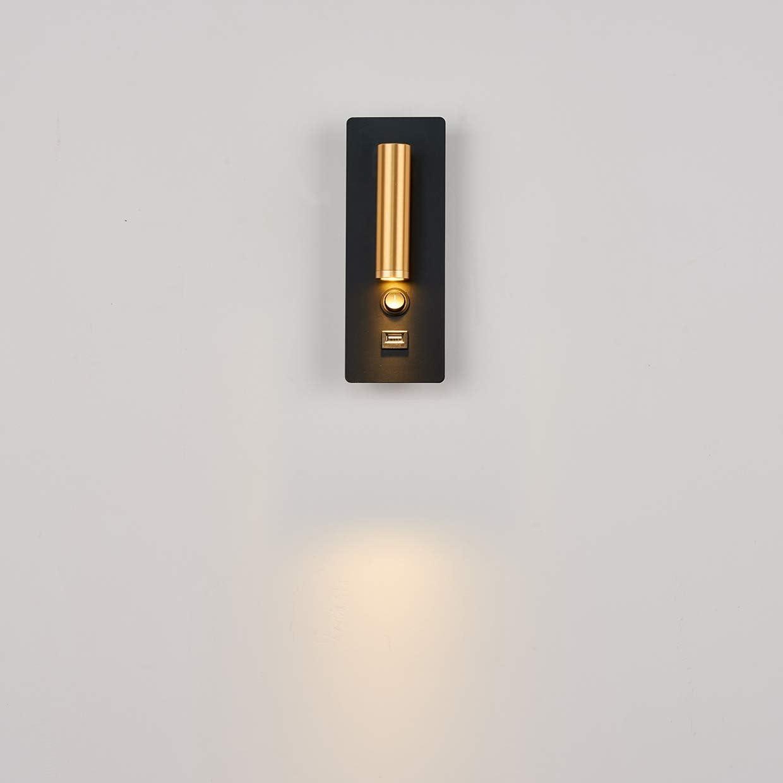 Topmo-plus LED 12W Leselampen Hotel Bettleuchten Wohnzimmer Wandleuchten mit schalter Modern Wandleuchte Innen Wandbeleuchtung Wandlampe Flur Schlafzimmer Treppen Hotels Nachttischlampe 3000K 3W+9W