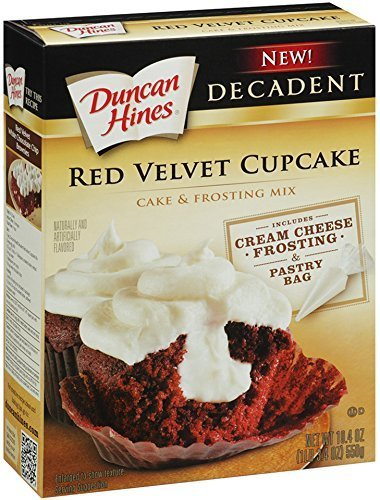 Duncan Hines Decadent Cupcake Mix with Frosting, Red Velvet, 19.4-Ounce by Duncan Hines by Duncan Hines