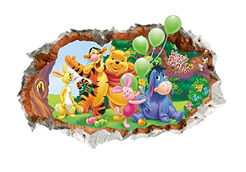 Pooh Mural - Home Decor Stick Giant Wall Decal 3D View Art Wallpaper Mural Winnie the Pooh