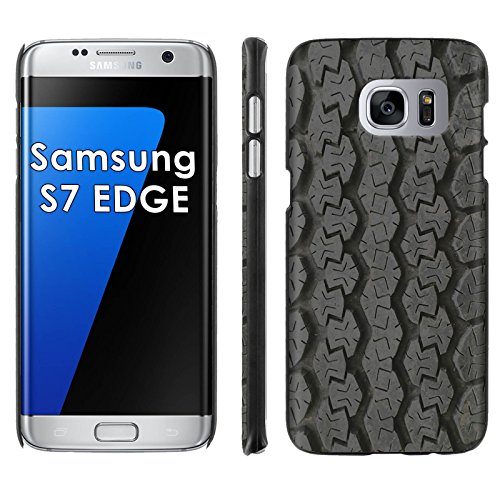 Samsung Galaxy [S7 EDGE] Phone Cover, Tire Tracks- Black Slim Clip-on Phone Case for [Samsung Galaxy [S7 EDGE]]