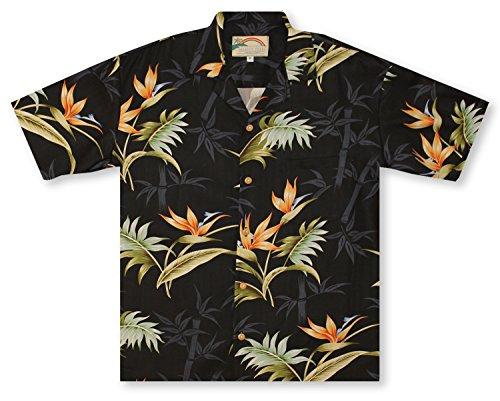 o Paradise - Black Hawaiian Shirt (Island Paradise Hawaiian Shirt)