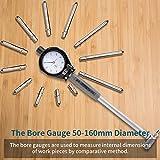 HUTACT Bore Gauge 1.97-6.23 inch Indicator 0.0003