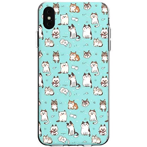 WooWie Case TPU for iPhone Apple Girls Anti Fingerprint 5 Kawaii 5s Cats X Girls 10 Pattern Cute Design SE Lightweight Silicone Xs Max Pussy Xr 7 8 Plus Print -