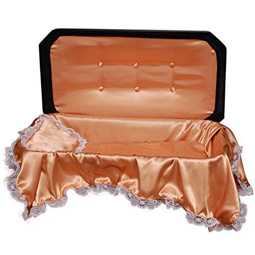 Pet Memory Shop Deluxe Pet Casket - Choose Color - Burial Casket (Medium, Black/Gold)