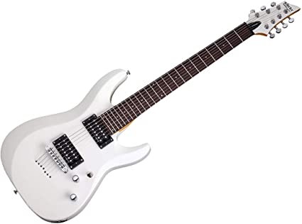 Schecter C-7 Deluxe - Guitarra eléctrica (7 cuerdas, satén), color ...