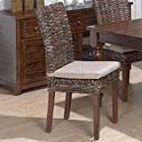 DCG Stores Urban Lodge Rattan Dining Chair – Brown (Set of 2)