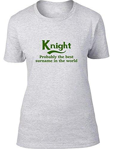Caballero probablemente la mejor apellido en el mundo Ladies T Shirt gris
