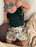 Newborn Baby Girl Clothes Ruffle Sleeveless Romper