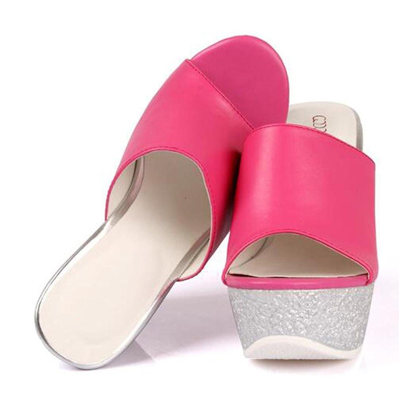 W&LMTacchi alti Scarpe sciolte Spessore inferiore Aprire il piede Scarpe da  spiaggia È aumentato Pantofole fresche da donna all'aperto Sala da ballo:  ...