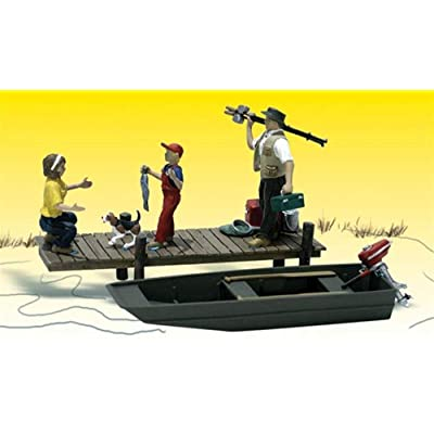 Family Fishing HO Scale Woodland Scenics: Toys & Games