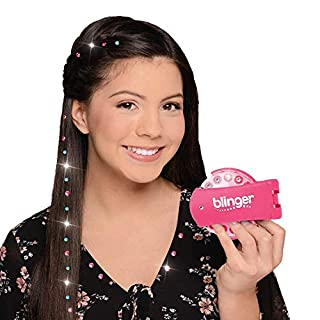 Blinger Deluxe Set, Radiance Collection, Comes with Glam Styling Tool & 150 Gems - Load, Click, Bling! Hair, Fashion, Anything! (Amazon Exclusive)