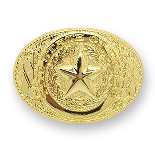 (Adult Unisex Western Texas Lone Star Belt Buckle Silver Gold)