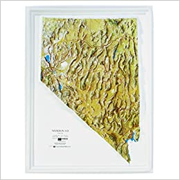 American Education Raised Relief Map: Nevada NCR Series: USGS ...