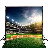 5X7ft (150cmX220cm) Photo Background Photography Backdrop Baseball Game Daytime Green Newborn Photographic Picture