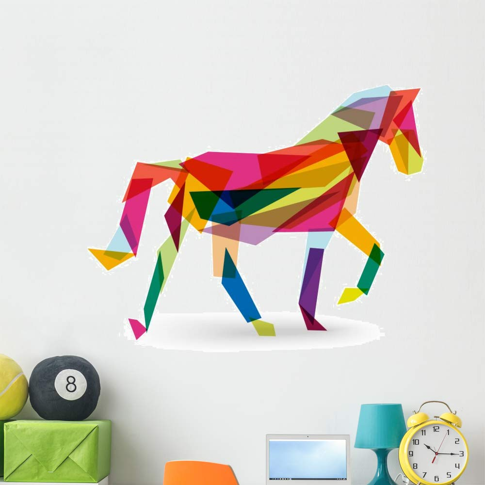 Wallmonkeys Chinese New Year Horse Wall Decal Peel and Stick Animal Graphics (48 in W x 37 in H) WM497249