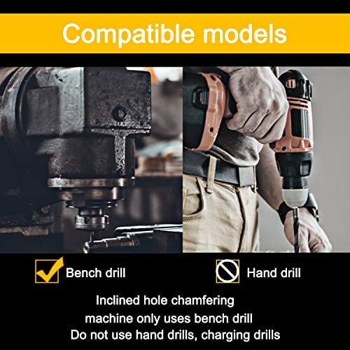 SENRISE Wood Drilling Bits 4PCS Countersink Drill with Hole HSS Deburring Chamfering Crosshole Cutting Tool Set for Metal Plastic Wool Drill Bits Set 2-5mm 5-10mm 10-15mm 15-20mm