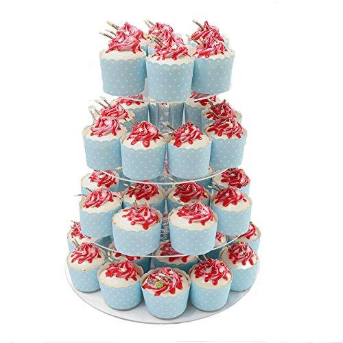Wedding Cupcake Display Ideas Gfcc 4 Tier Cupcake Stand Acrylic