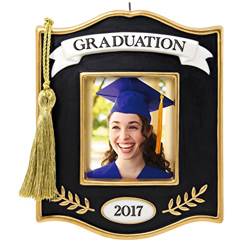 Hallmark Photo Holder (Hallmark Keepsake 2017 Congrats, Grad! Photo Holder Porcelain Dated Christmas Ornament)
