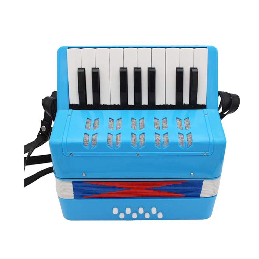 TECHLINK Musical Childern Accordion Accordions Toy Portable 17 Keys 8 Bass Promotes Education Musical Instrument Children's Gift by TECHLINK (Image #1)