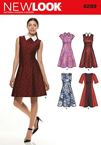 New Look Simplicity Pattern 6299 Misses Dress with Neck and Sleeve Variations Sizes 8101214161820