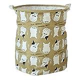 Good-memories Cartoon Storage Basket Polar Bear Rabbit Pattern Desk Toy Storage Box Holder Laundry Basket,Green