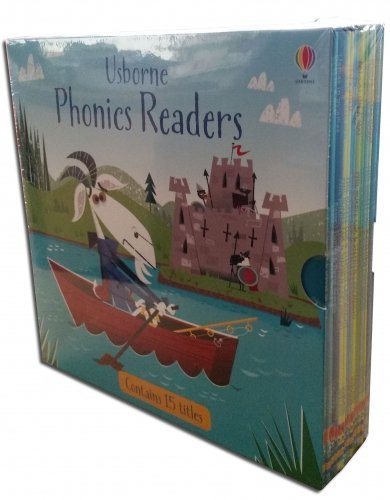 Usborne Phonics Young Readers 15 Picture Books Box Set Collection Pack ()