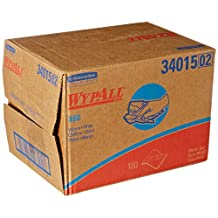 """Kimberly Clark Safety 34015 White WYPALL X60 Wipers, 12.5"""" x 16.8"""" Sheets (Pack of 180)"""