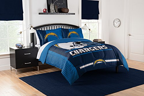- Officially Licensed NFL Los Angeles Chargers Safety Full/Queen Comforter and 2 Sham Set
