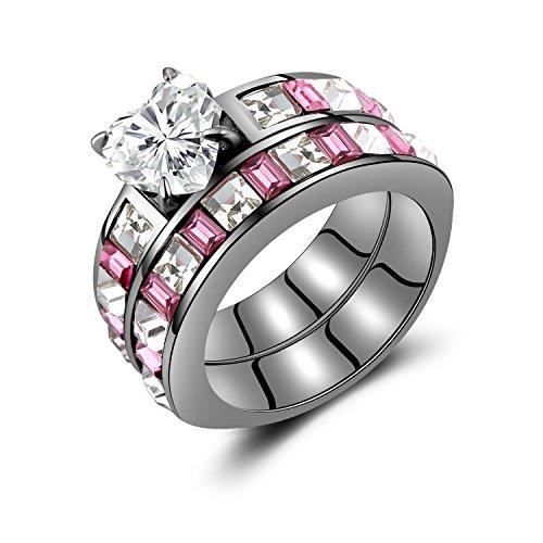 Black Heart Princess Cut Diamond Engagement