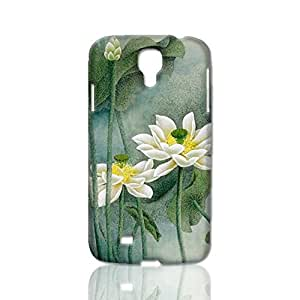 White Lotus 3D Rough Case Skin, fashion design image custom, durable hard 3D case cover, Case New Design for Samsung Galaxy S4 I9500 , By Codystore