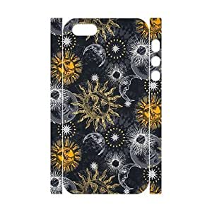 Cool Painting Sun Moon Pattern Brand New 3D Cover Case for Iphone 5,5S,diy case cover case543917