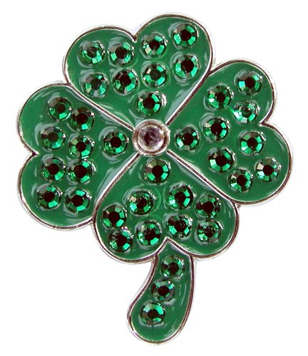Image Unavailable. Image not available for. Color  Crystal Golf Ball Marker    Magnetic Hat Clip Set - 4 Leaf Clover ... d23c30f6befb