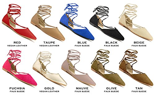 Suede Rf Flat Shoes Ballet Ankle Flats Fashion Wrap Around Vegan D'orsay Black Strap Faux Room Closed Pointed Toe Of qUqr4A