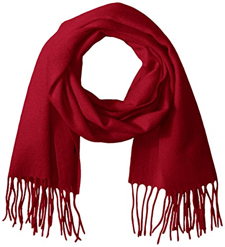 Phenix Cashmere Women's Solid 100 Percent Cashmere Scarf, Red, One Size by Phenix Cashmere