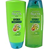 Garnier Fructis Hydra Recharge for All Hair Types, DUO Set Shampoo Conditioner, 13 Ounce, 1 each