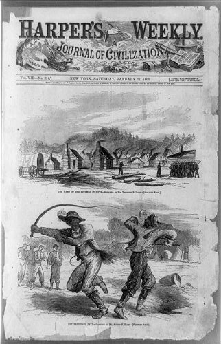 Photo: Army, Potomac, huts, teamsters' duel, African Americans, fighting, T Davis, A Waud, 1863 . - African Huts Pictures